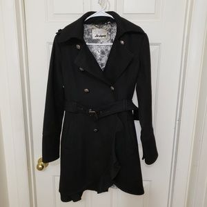 Guess Double Breasted Peacoat Black S